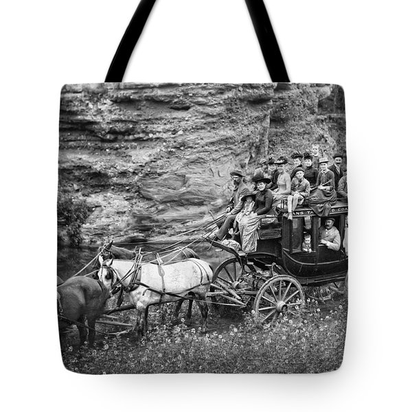 TALLYHO STAGECOACH PARTY c. 1889 Tote Bag by Daniel Hagerman