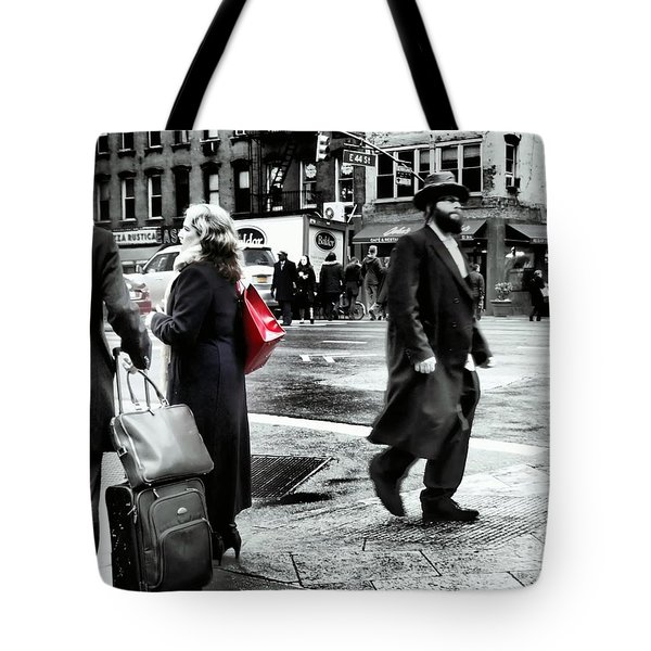 Tangents - A Walk In The City Tote Bag by Miriam Danar