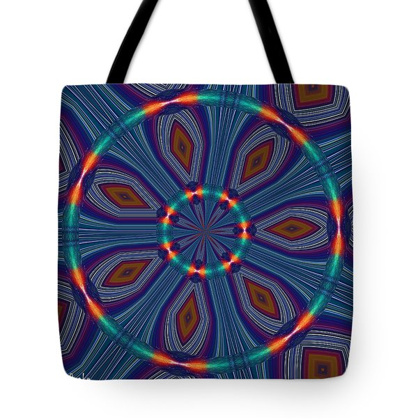 Tangerine and Turquoise Dream Tote Bag by Alec Drake