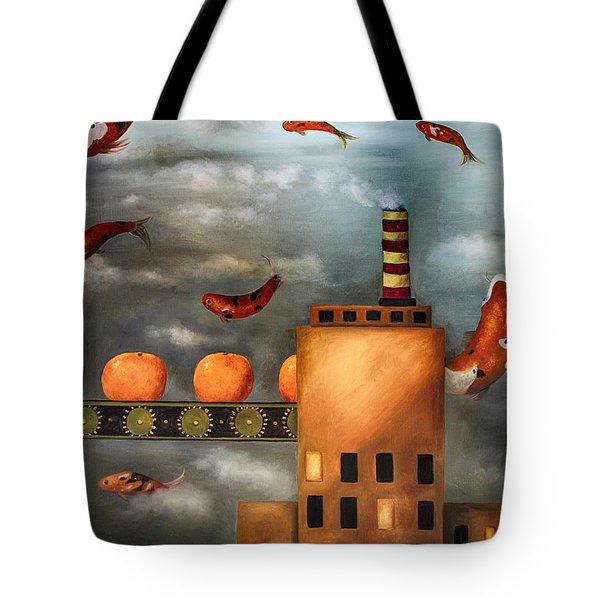 Tangerine Dream edit 2 Tote Bag by Leah Saulnier The Painting Maniac