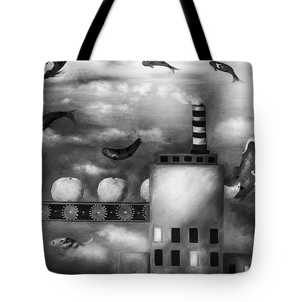Tangerine Dream Edit 3 Tote Bag by Leah Saulnier The Painting Maniac