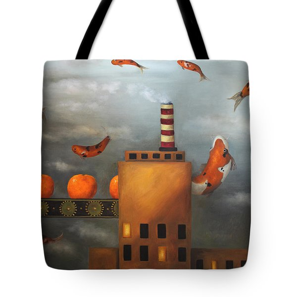 Tangerine Dream Tote Bag by Leah Saulnier The Painting Maniac