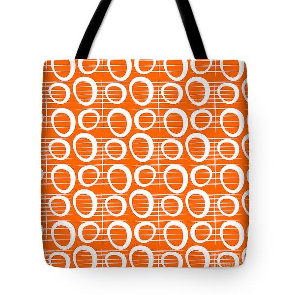 Tangerine Loop Tote Bag by Linda Woods