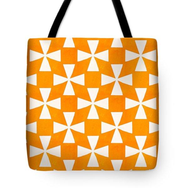 Tangerine Twirl Tote Bag by Linda Woods