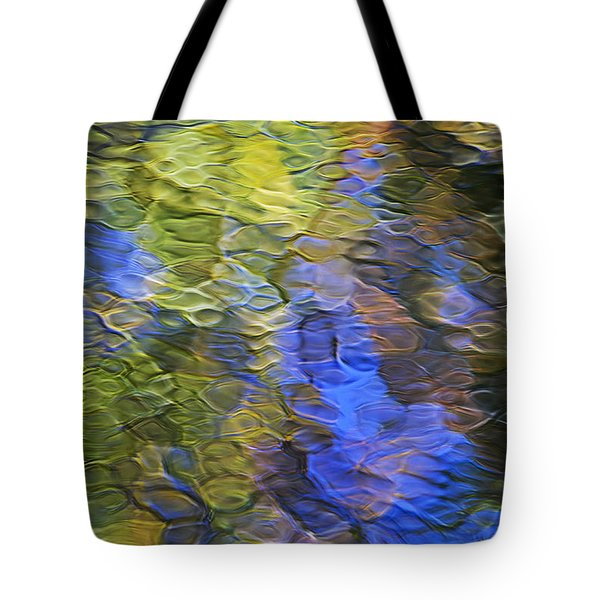 Tangerine Twist Mosaic Abstract Art Tote Bag by Christina Rollo