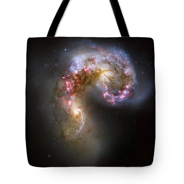 Tangled Galaxies Tote Bag by Adam Romanowicz
