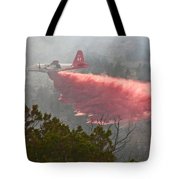 Tote Bag featuring the photograph Tanker 07 On Whoopup Fire by Bill Gabbert