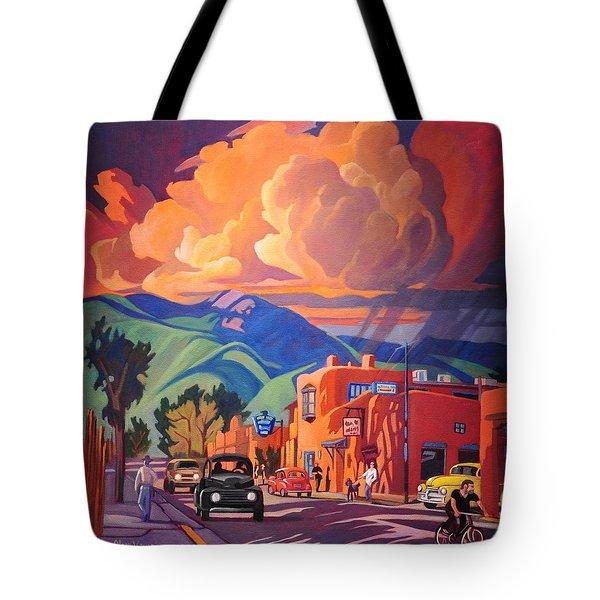 Taos Inn Monsoon Tote Bag by Art James West