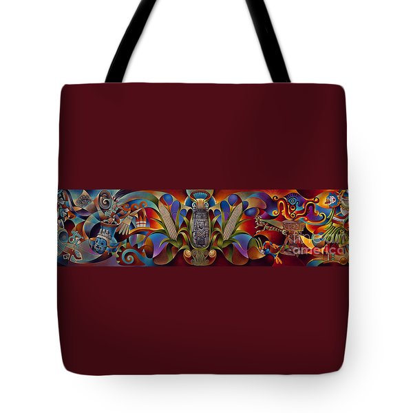 Tapestry Of Gods Tote Bag by Ricardo Chavez-Mendez