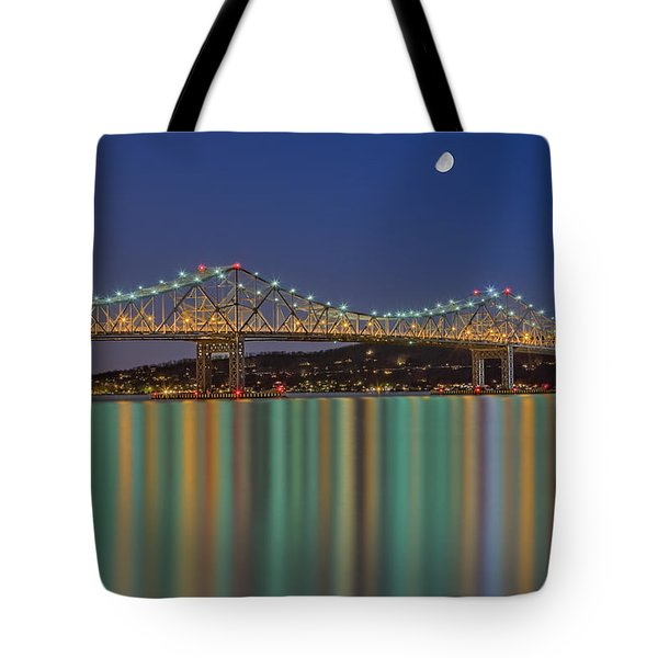 Tappan Zee Bridge Reflections Tote Bag by Susan Candelario
