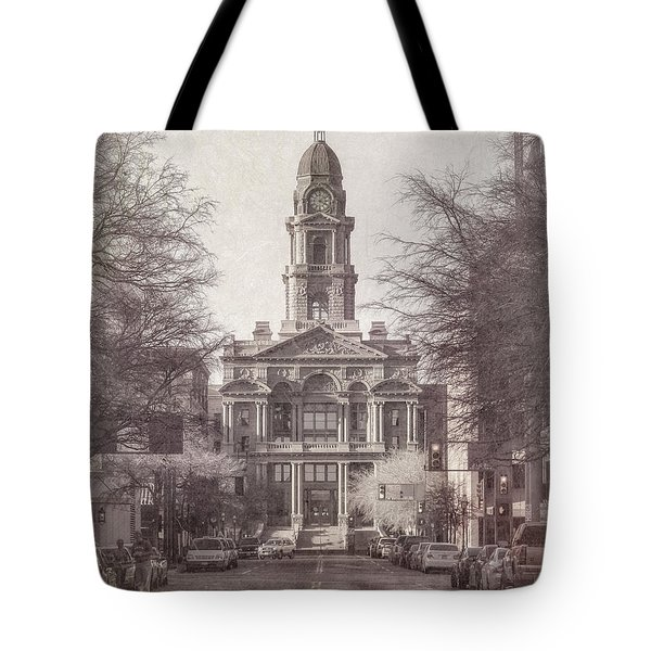 Tarrant County Courthouse Tote Bag by Joan Carroll