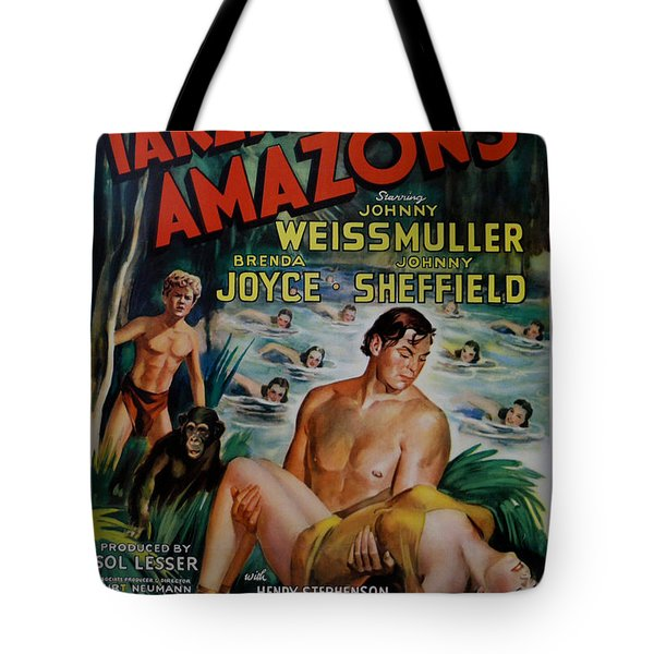 Tarzan and the Amazons Tote Bag by Nomad Art And  Design