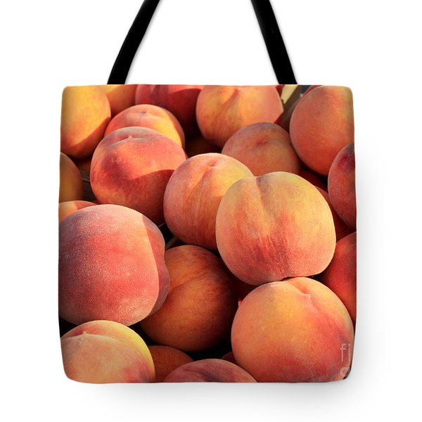Tasty Peaches Tote Bag by Carol Groenen