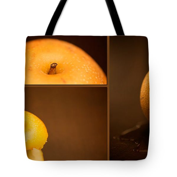 Tasty Pear Tote Bag by Lisa Knechtel