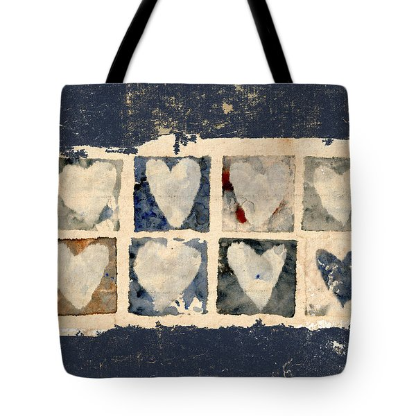 Tattered Hearts Tote Bag by Carol Leigh