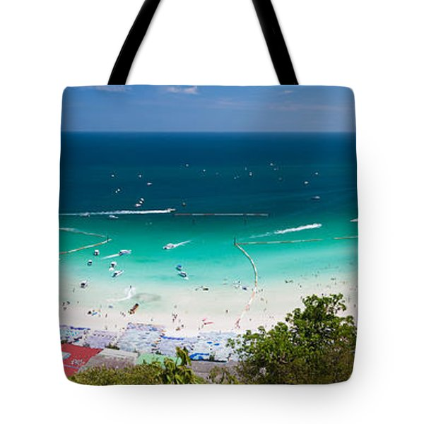 Tawaen Beach Tote Bag by Atiketta Sangasaeng