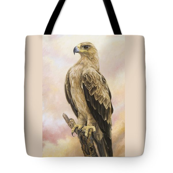 Tawny Eagle Tote Bag by Lucie Bilodeau