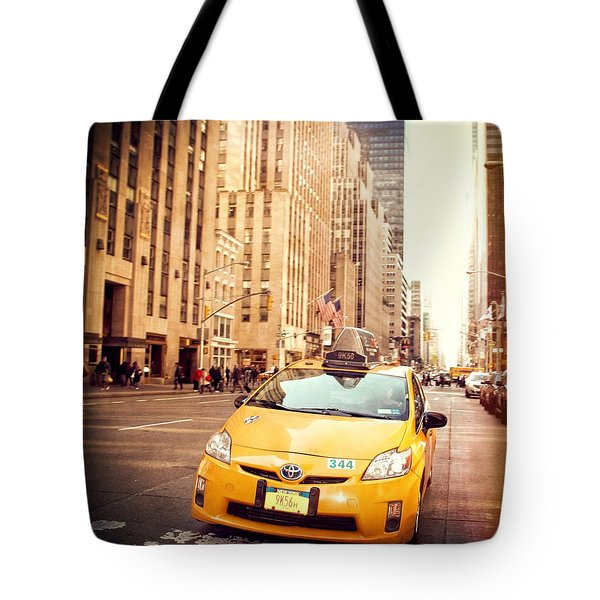 New York Taxi Street City Canvas Wall Art Picture Print Va: Taxi Photograph By Dan Sproul
