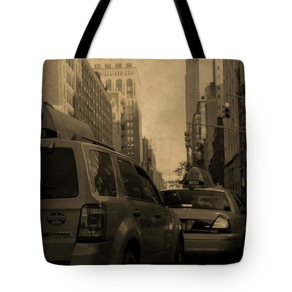 New York Taxi Street City Canvas Wall Art Picture Print Va: Taxi Traffic Jam In New York City Photograph By Dan Sproul
