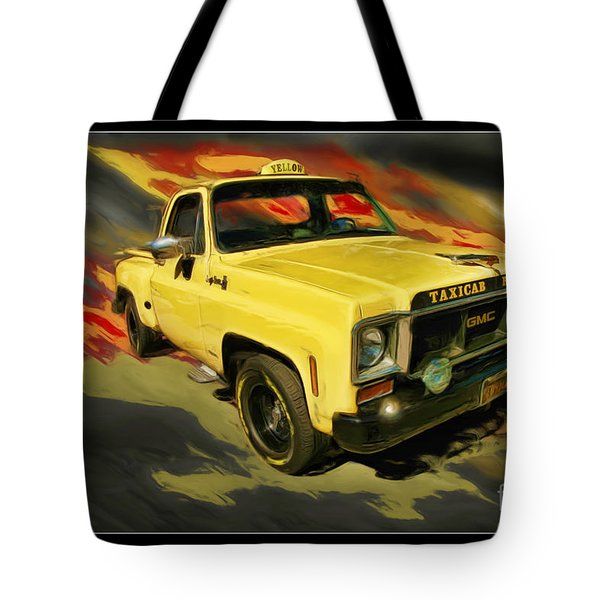 Taxicab Repair 1974 gmc Tote Bag by Blake Richards