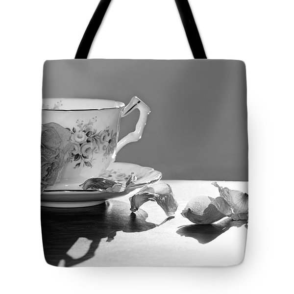 Tea And Roses Still Life Tote Bag by Lisa Knechtel