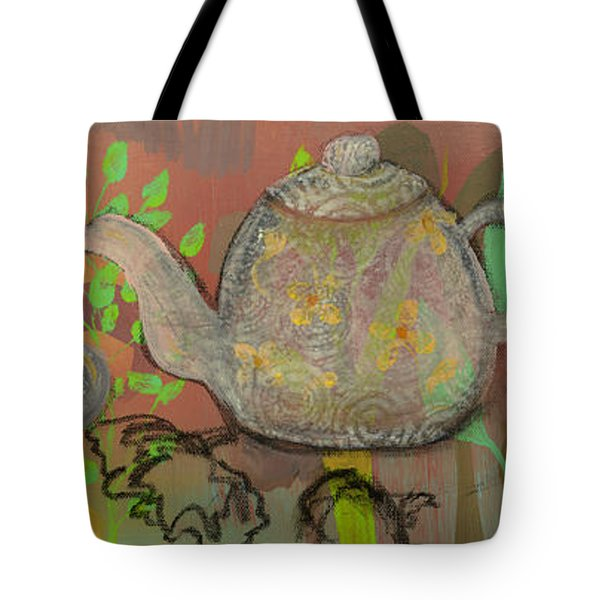 Tea Blossoms Tote Bag by Robin Maria  Pedrero
