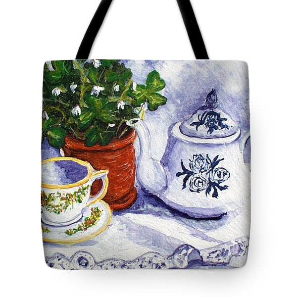 Tea For Nancy Tote Bag by Barbara McDevitt