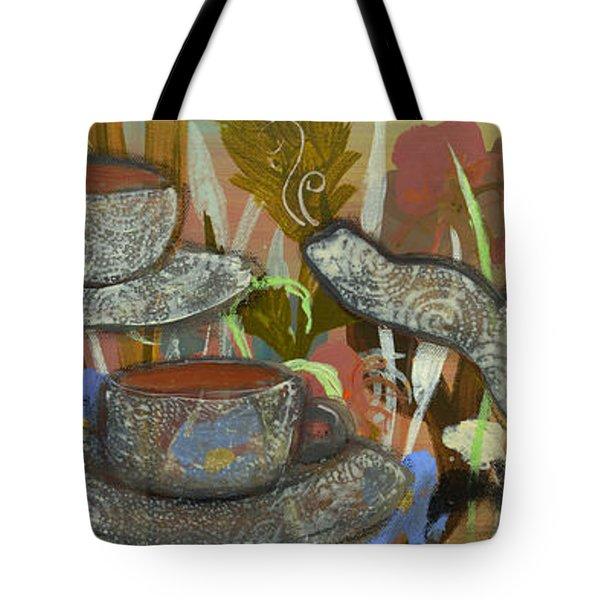 Tea For Three Tote Bag by Robin Maria  Pedrero