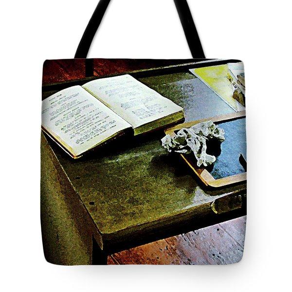 Teacher - Blackboard And Book Tote Bag by Susan Savad