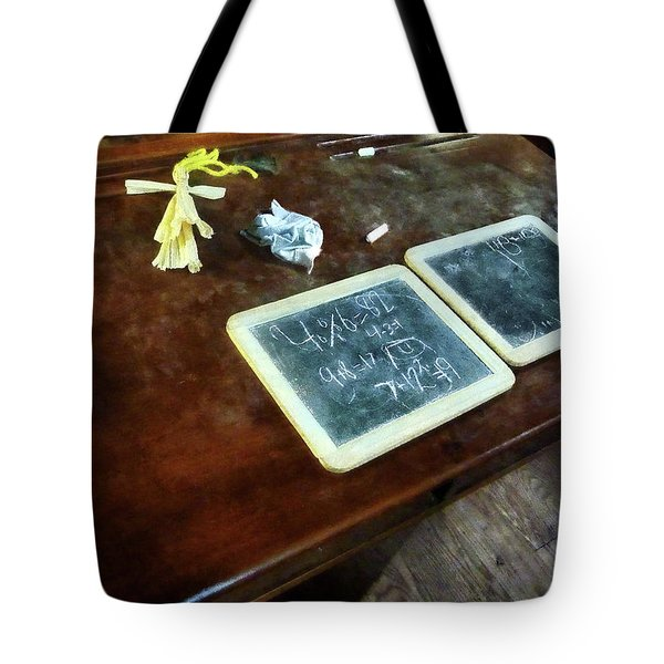 Teacher - School Slates Tote Bag by Susan Savad