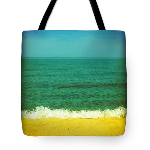 Teal Waters Tote Bag by Michelle Calkins