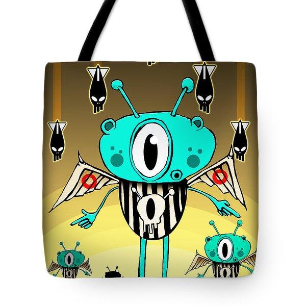 Team Alien Tote Bag by Johan Lilja