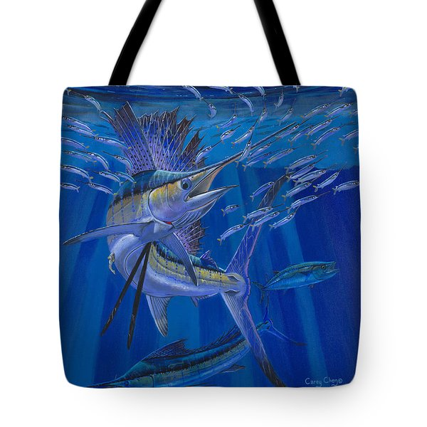 Team Work Off0036 Tote Bag by Carey Chen