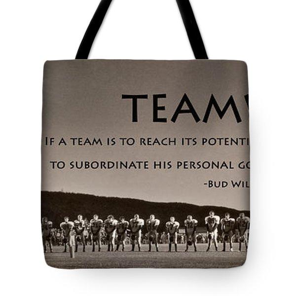 Teamwork Tote Bag by Lori Deiter