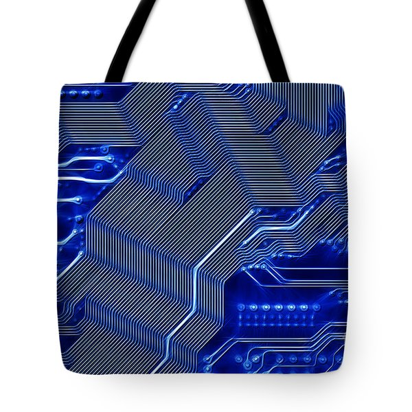 Technology Abstract Tote Bag by Michal Boubin