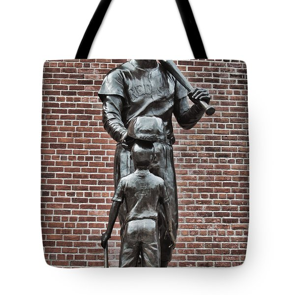Ted Williams Statue - Boston Tote Bag by Joann Vitali