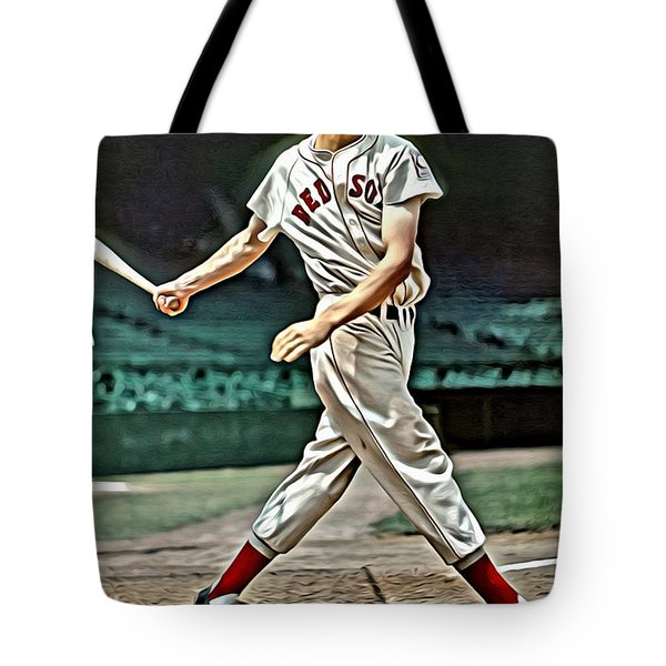Ted Williams Painting Tote Bag by Florian Rodarte