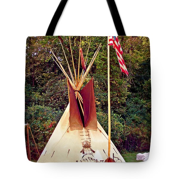 Teepee Tote Bag by Marty Koch
