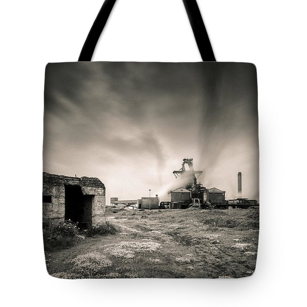 Teesside Steelworks 2 Tote Bag by Dave Bowman