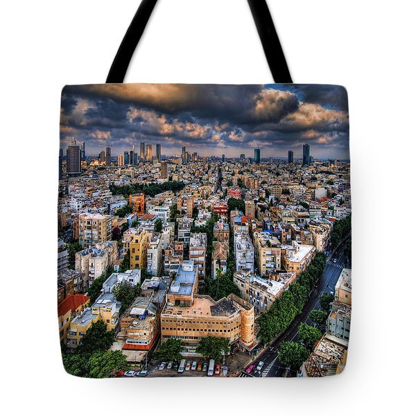 Tel Aviv Lookout Tote Bag by Ron Shoshani