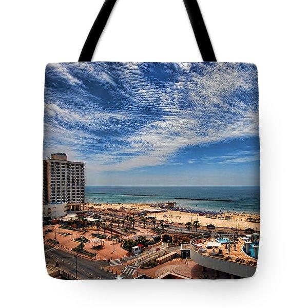 Tel Aviv summer time Tote Bag by Ron Shoshani