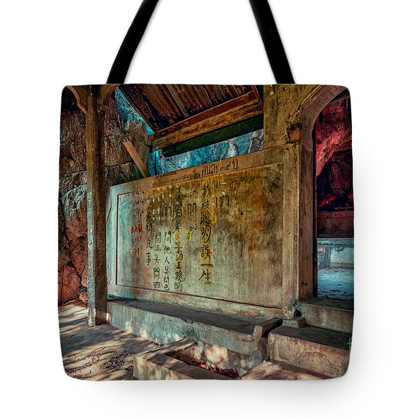 Temple Cave Tote Bag by Adrian Evans