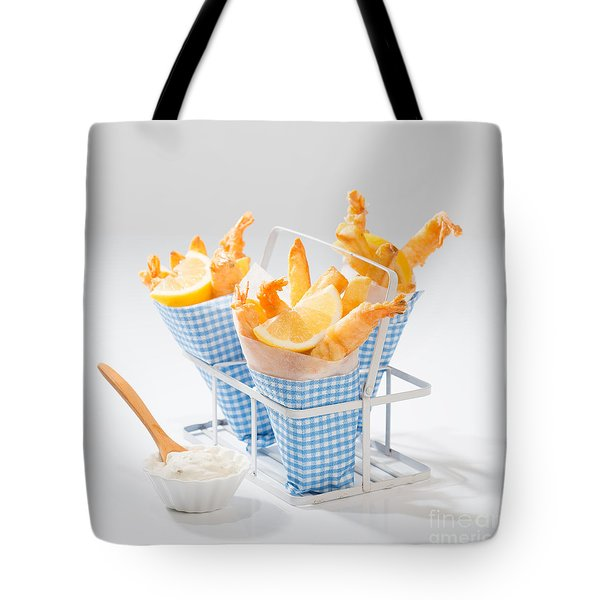 Tempura Prawns Tote Bag by Amanda Elwell