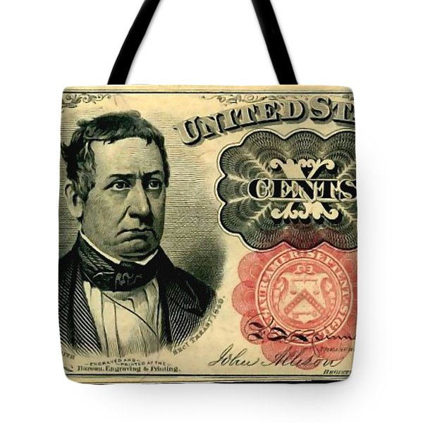 Ten Cents 5th Issue U.s. Fractional Currency Fr 1266 Tote Bag by Lanjee Chee