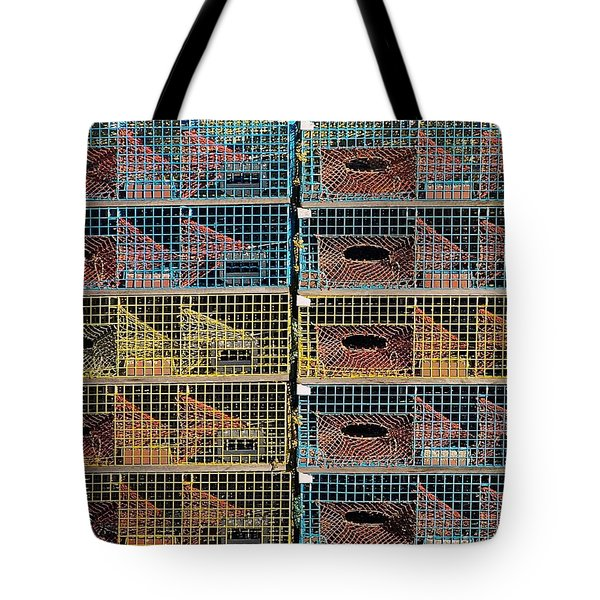 Ten Lobster Traps Tote Bag by Stuart Litoff