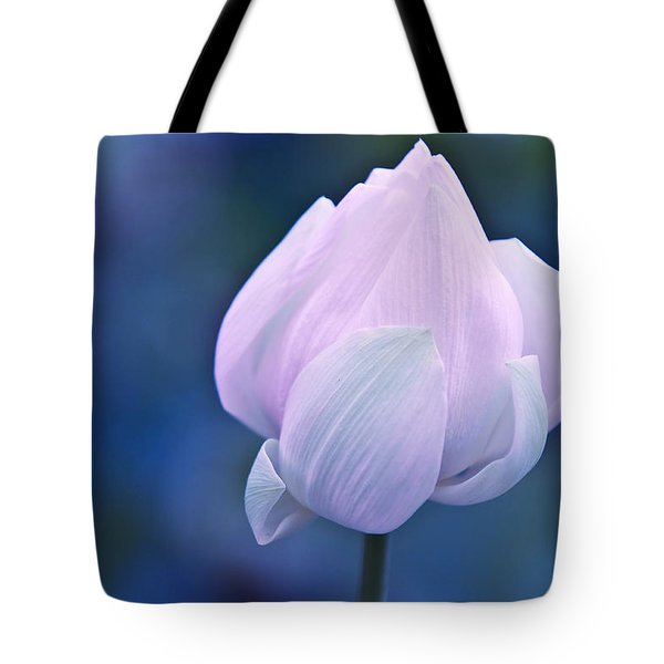 Tender Morning With Lotus Tote Bag by Jenny Rainbow
