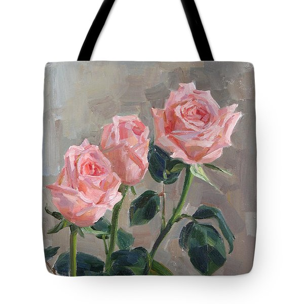 Tender Roses Tote Bag by Victoria Kharchenko