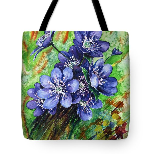 Tenderness Of Spring Tote Bag by Zaira Dzhaubaeva