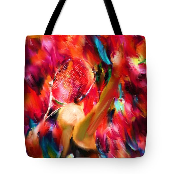 Tennis I Tote Bag by Lourry Legarde