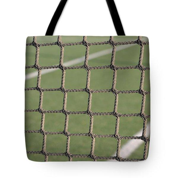 Tennis net Tote Bag by Luis Alvarenga